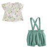 Minibanda - Completo Salopette e Maglia camicia Neonata