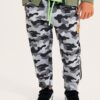 Sarabanda - Pantalone in felpa Camouflage Bambino