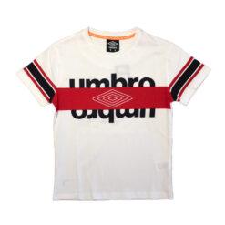 t-shirt_mezza_manica_corta_bianco_rosso_logo grande_ragazzo_bambino