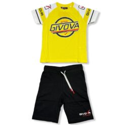 completo_givova_t-shirt_mezza_manica_pantaloncino_nero_giallo_ragazzo_bambino