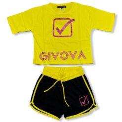 completo_givova_t-shirt_mezza_manica_pantaloncino_nero_giallo_ragazza_bambina
