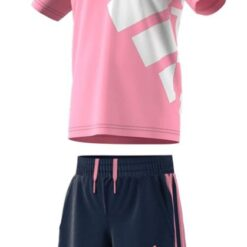 completo_adidas_t-shirt_pantaloncino_blu_rosa_bambina_ragazza